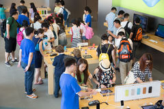 Apple-winkel in Hong Kong Royalty-vrije Stock Foto