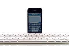 Apple Wireless Keyboard Support Royalty Free Stock Images