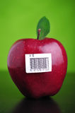 Apple With Barcode Stock Photography