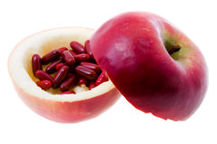 Apple With Medicines Stock Images
