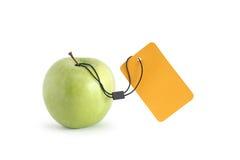 Apple With Price Tag Stock Photos
