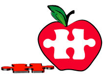 Free Apple With Puzzle Piece Royalty Free Stock Photography - 5724747