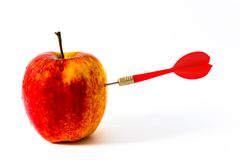 Free Apple With Red Darts Stock Photo - 6101370