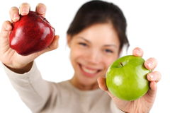 Apple woman royalty free stock photo