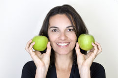 Apple woman Royalty Free Stock Photos