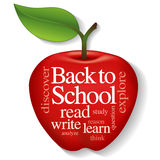 Apple Word Cloud, Back to School Stock Photos