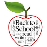 Apple Word Cloud, Back to School Royalty Free Stock Images