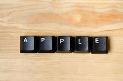 Apple word. With keyboard button Royalty Free Stock Photo