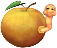 Apple Worm Royalty Free Stock Image