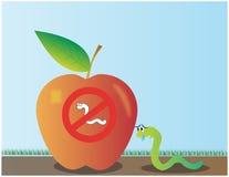 Apple worm Stockbilder