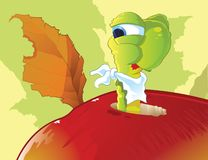 Apple worm Stock Images