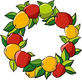 Apple wreath Stock Photography