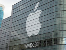 Apple WWDC 2011 event feature the greatest in Apple technology p Stock Photos