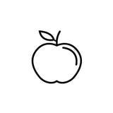 Apple wykłada ikonę, jedzenie i dieta element, zdrowego ilustracji