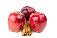 Apple y cinamomo Fotografía de archivo