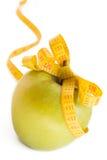 Apple y cinta de la medida Foto de archivo
