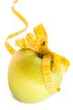 Apple y cinta de la medida Fotografía de archivo libre de regalías