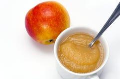 Apple y compota de manzanas deliciosas Imagen de archivo