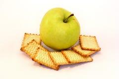 Apple y galletas fotografía de archivo