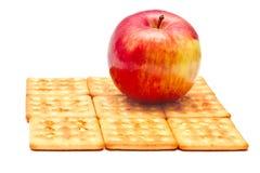Apple y galletas Foto de archivo libre de regalías