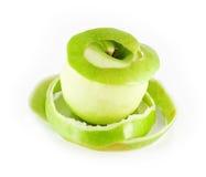 Apple y la cáscara Imagen de archivo libre de regalías