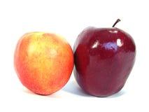 Apple y melocotón Imagen de archivo libre de regalías