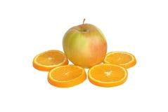 Apple y naranja Imágenes de archivo libres de regalías