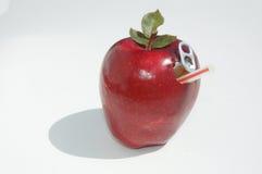 Apple y paja fotografía de archivo