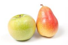Apple y pera Imagenes de archivo