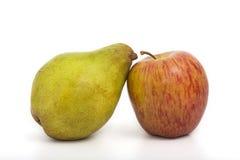 Apple y pera Imagen de archivo libre de regalías