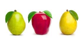 Apple y peras Foto de archivo libre de regalías