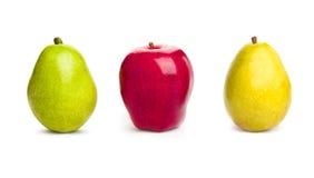 Apple y peras Fotos de archivo libres de regalías