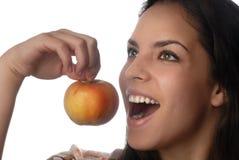 Apple y sonrisa Imagen de archivo