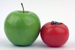 Apple y tomate Fotografía de archivo