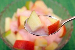 Apple and yogurt Stock Photography
