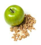 Apple z granola fotografia stock