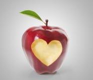 Apple z kierowym kształtem royalty ilustracja