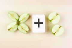Apple z matematyka problemami Zdjęcia Stock