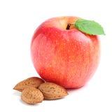 Apple z migdałami. Obrazy Royalty Free
