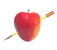 Apple z strzała Zdjęcie Royalty Free