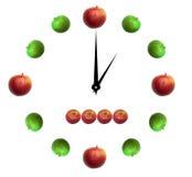 Apple zegar Zdjęcie Royalty Free