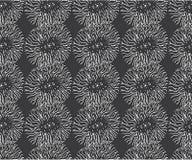 Apple zentangle pattern for disign. Vector illustration, white on dark. Apple zentangle seamless pattern for print and disign. Vector illustration, white on dark Royalty Free Stock Photography