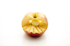 Apple with zickzack form Royalty Free Stock Photo