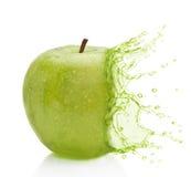 Apple - zielony pluśnięcie Fotografia Stock