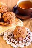 Apple-Zimtmuffins Stockbilder
