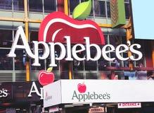 Applebee en la 42.a calle. imagenes de archivo