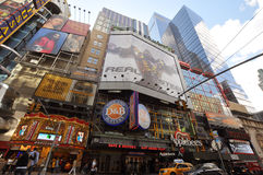Applebee perto do Times Square, New York City Fotos de Stock Royalty Free