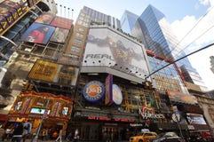Applebee près de Times Square, New York City Photos libres de droits