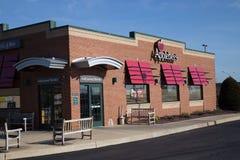 Applebee ` s邻里格栅和酒吧餐馆入口  免版税库存照片