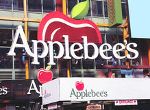 Applebee's on 42nd street. Applebee's restaurant on 42nd street in manhattan,ny stock images